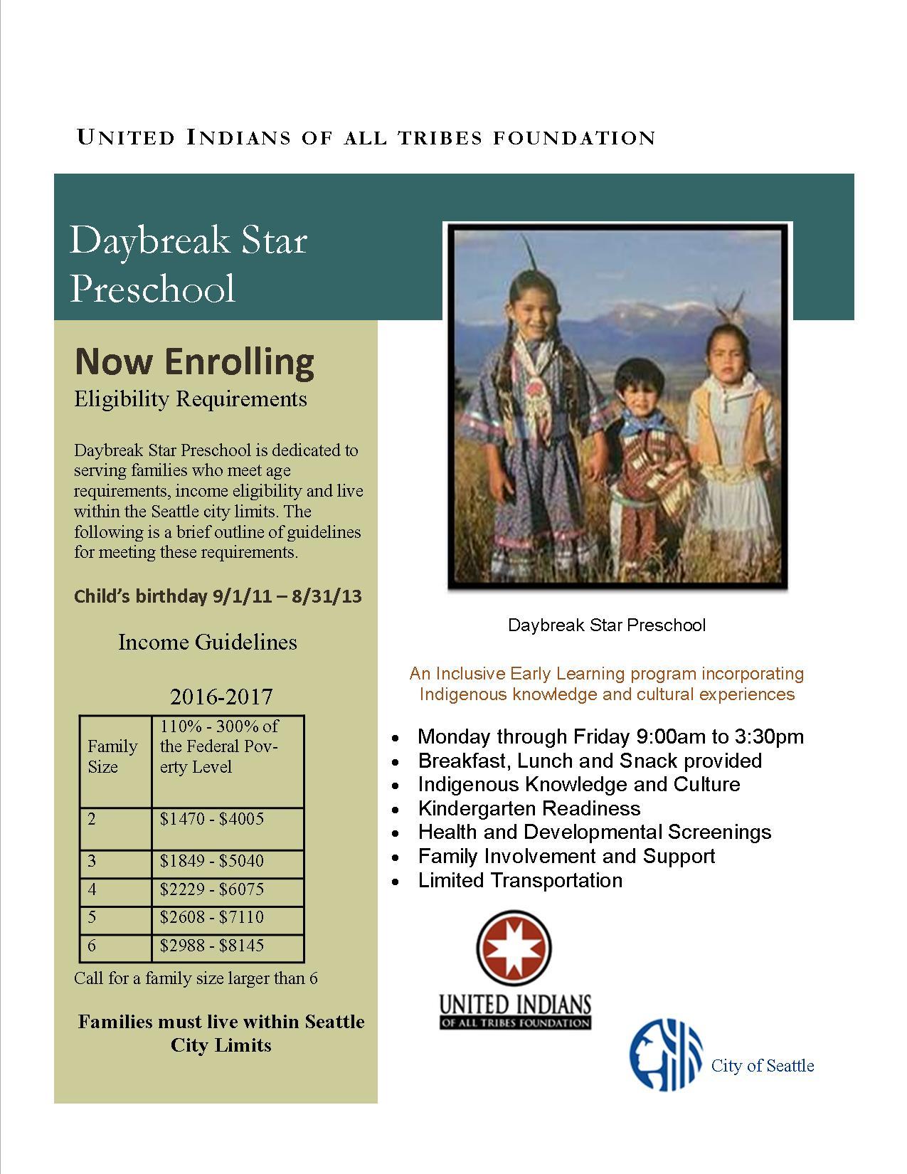 Preschool Info Flyer