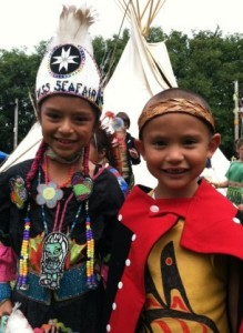 Little Princess and Little Warrior at 27th Annual Seafair Pow Wow
